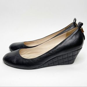 Cole Haan Tali Grand Black Quilted Wedges Size 8.5